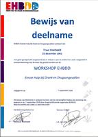 Bewijs van Deelname 'Workshop EHBDD'